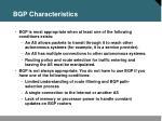 bgp characteristics