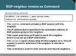 bgp neighbor remote as command