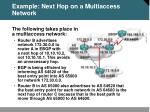 example next hop on a multiaccess network