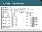 example origin attribute
