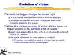evolution of status