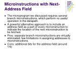 microinstructions with next address field