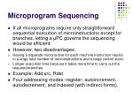 microprogram sequencing