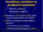 condition variables in producer consumer
