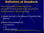 definition of deadlock