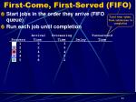 first come first served fifo2