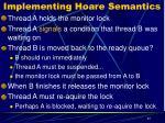 implementing hoare semantics