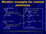 monitor example for mutual exclusion