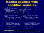 monitor example with condition variables