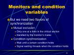 monitors and condition variables