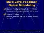 multi level feedback queue scheduling