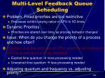 multi level feedback queue scheduling2