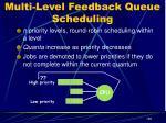 multi level feedback queue scheduling3