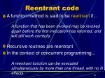 reentrant code
