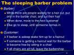 the sleeping barber problem1