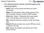 glossary of training terms