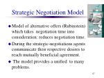 strategic negotiation model