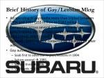 brief history of gay lesbian mktg