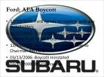 ford afa boycott2