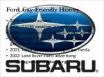 ford gay friendly history