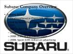 subaru company overview1
