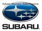 subaru overview sales figures