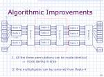 algorithmic improvements