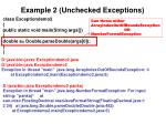 example 2 unchecked exceptions
