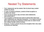 nested try statements