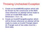 throwing unchecked exception