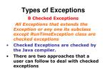 types of exceptions1