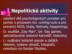 nepolitick aktivity