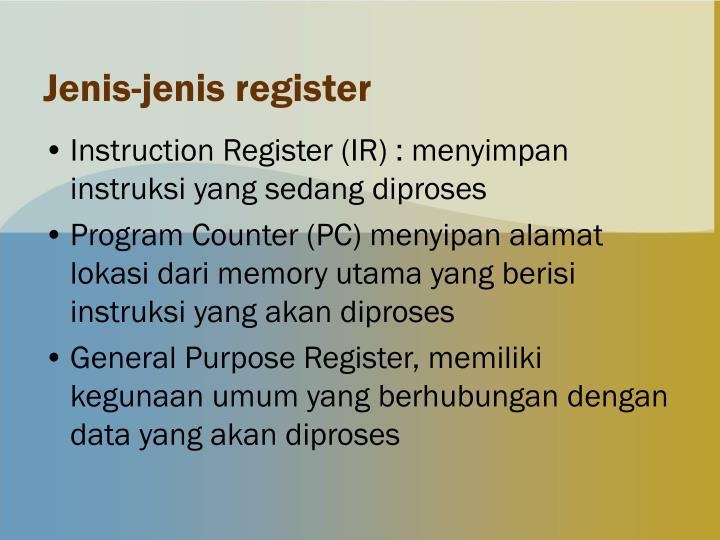 Jenis-jenis register