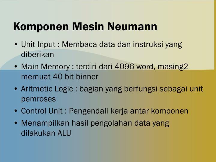 Komponen Mesin Neumann