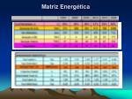 matriz energ tica