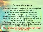 fronts and air masses