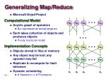 generalizing map reduce