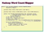 hadoop word count mapper