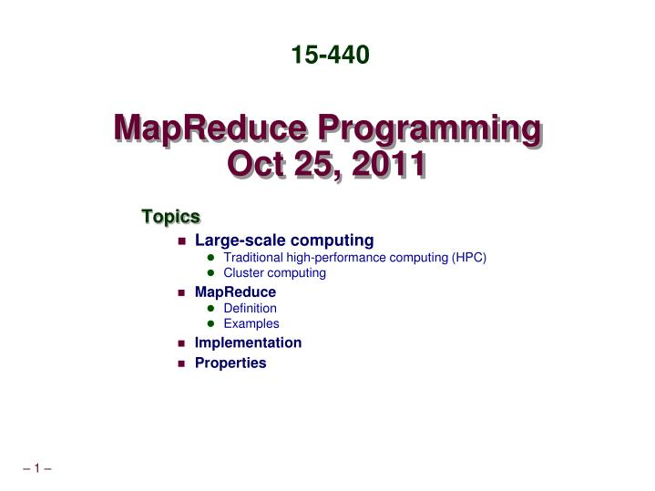 mapreduce programming oct 25 2011 n.