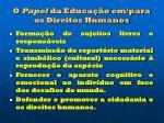 o papel da educa o em para os direitos humanos