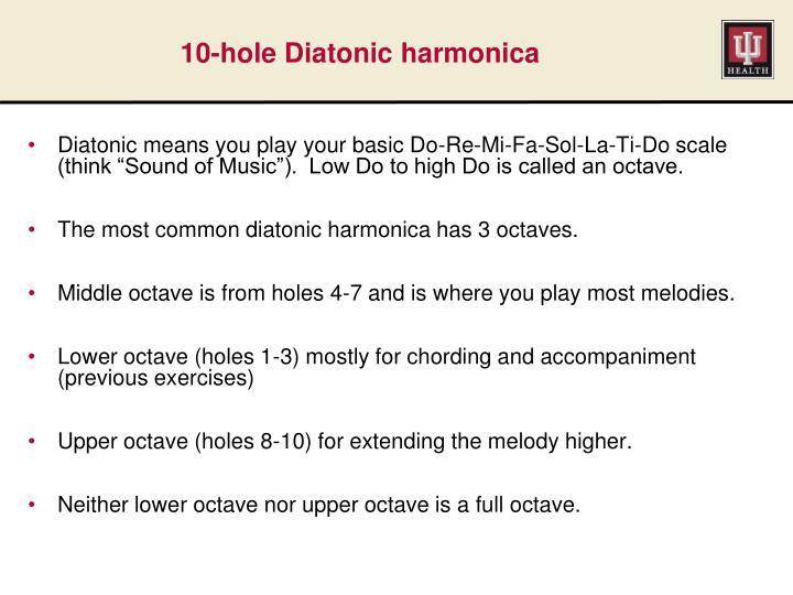 10-hole Diatonic harmonica