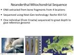 neanderthal mitochondrial sequence