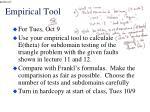 empirical tool