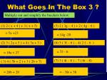 what goes in the box 3