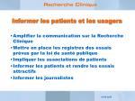 informer les patients et les usagers
