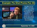 example flu shot promo fox 40