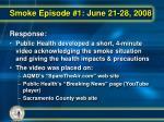 smoke episode 1 june 21 28 20082