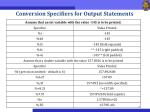conversion specifiers for output statements2