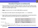 standard input continued1