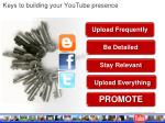 keys to building your youtube presence